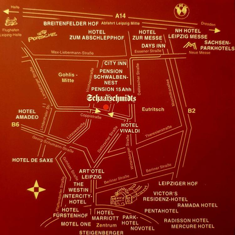 Karte mit Standortbeschreibung